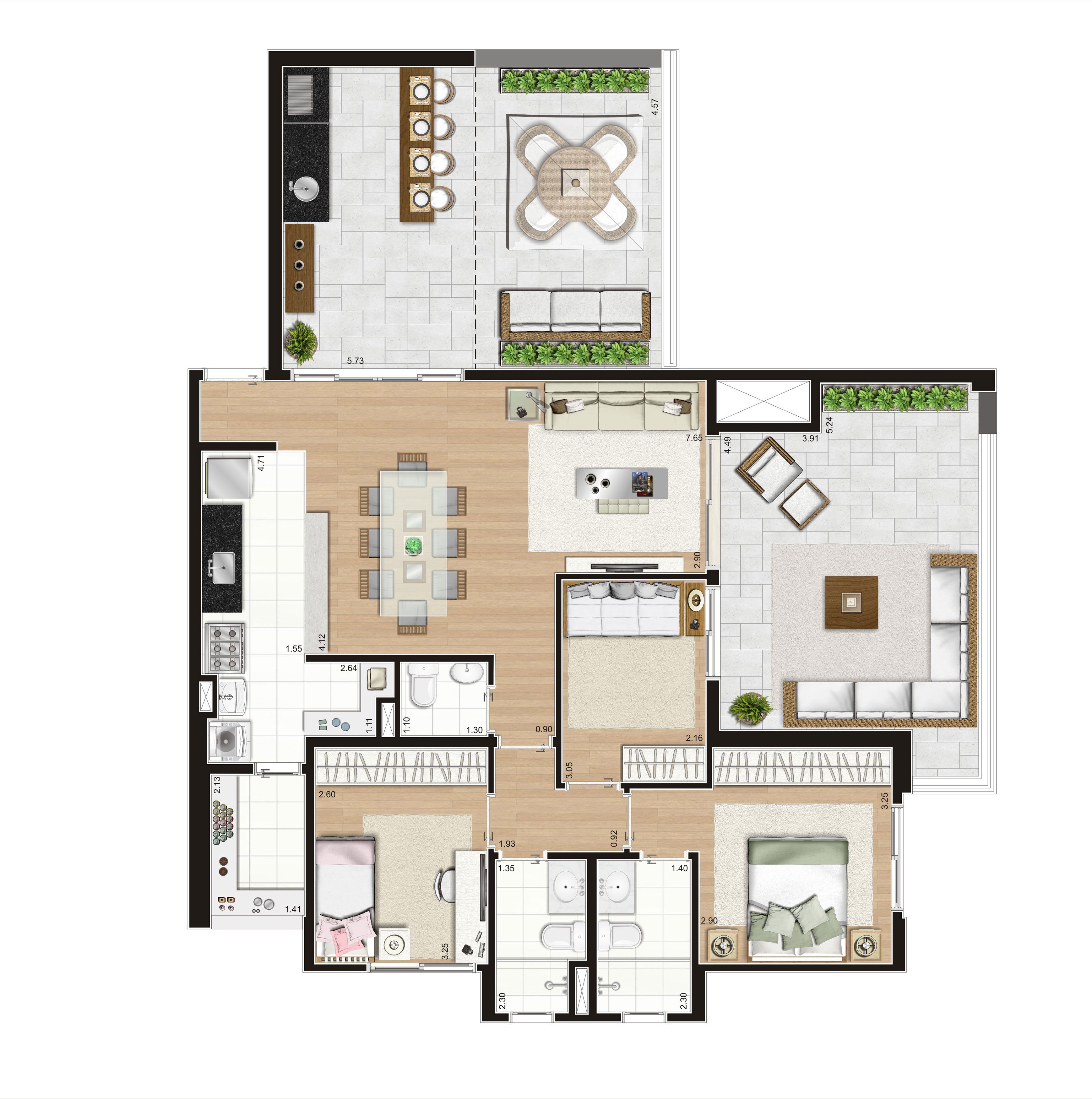 138 m² Penthouse