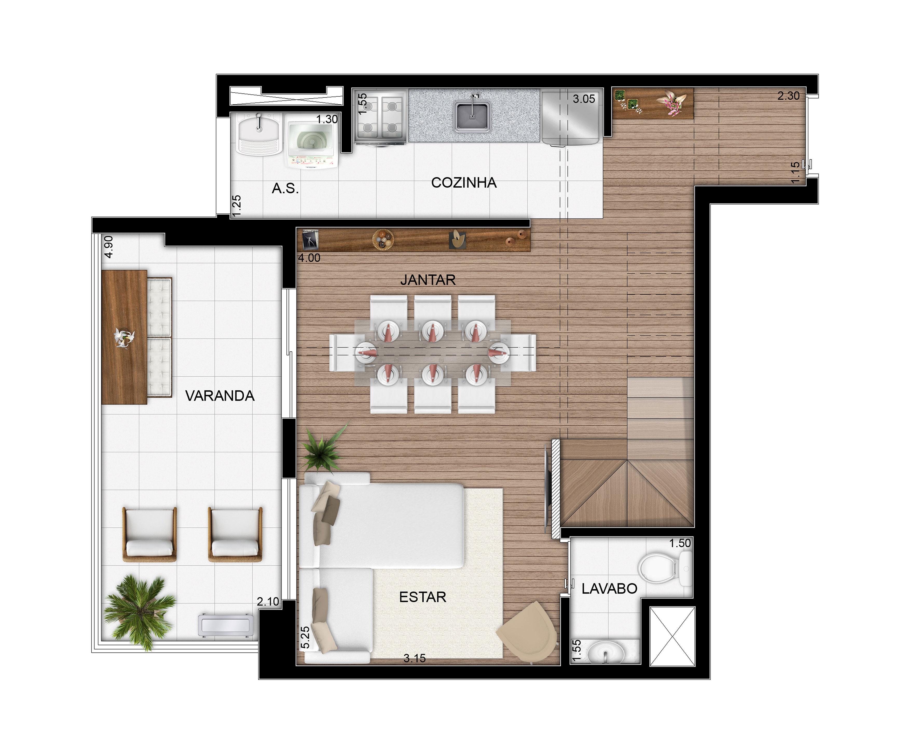 79,24 m² - Duplex inferior