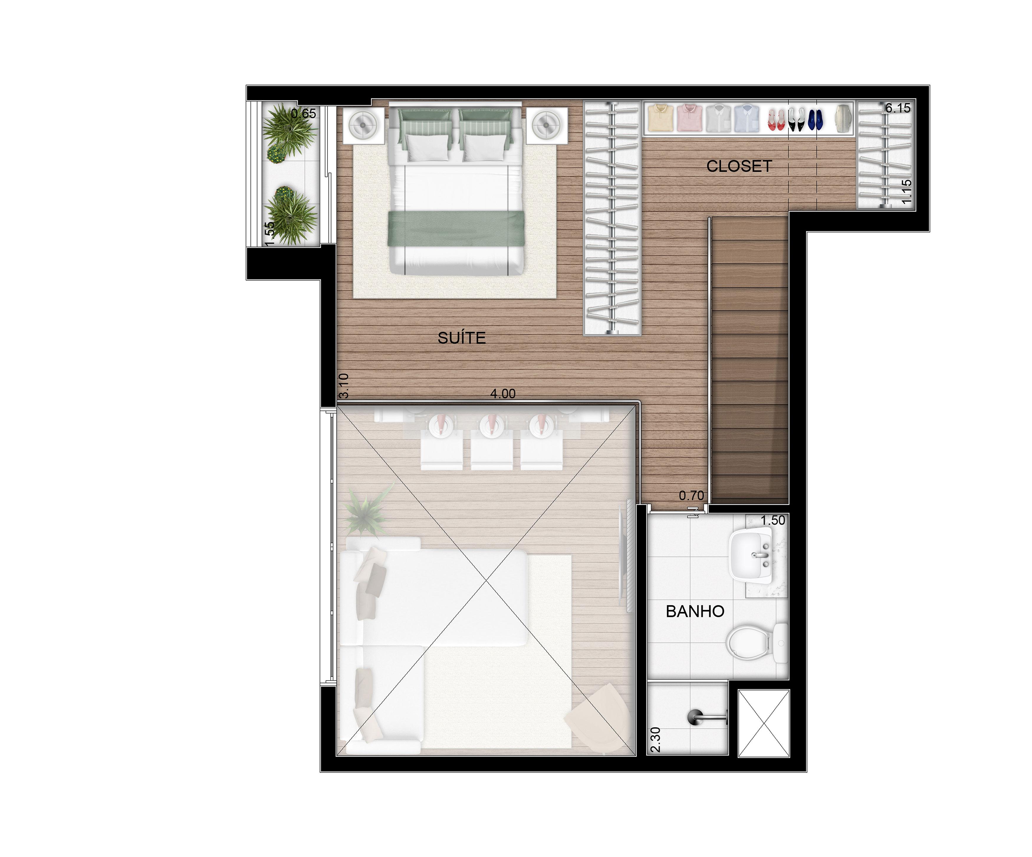 79,24 m² - Duplex superior