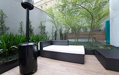 Área externa de descanso - Inspira Business - Tecnisa