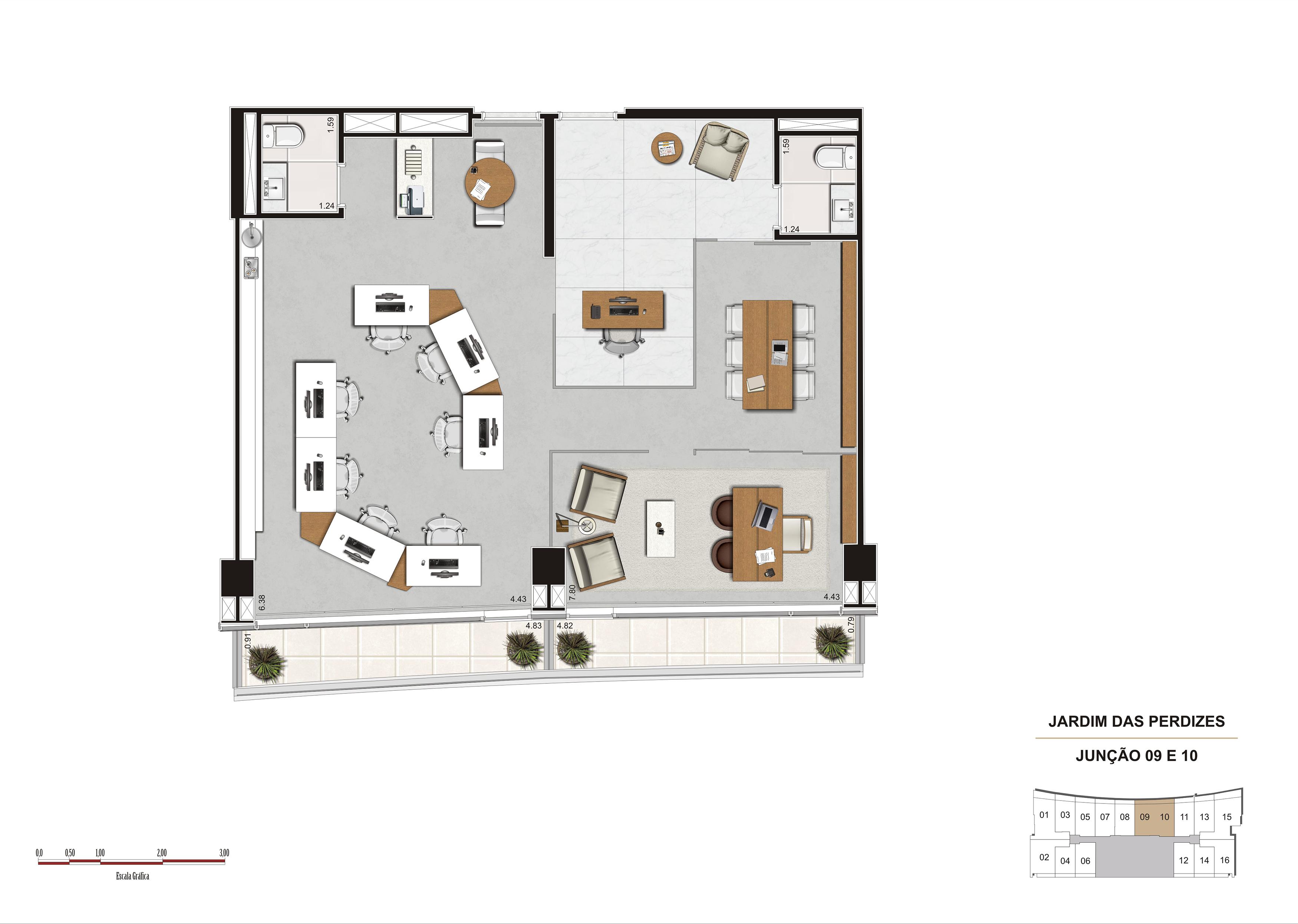 Sala 90 m²