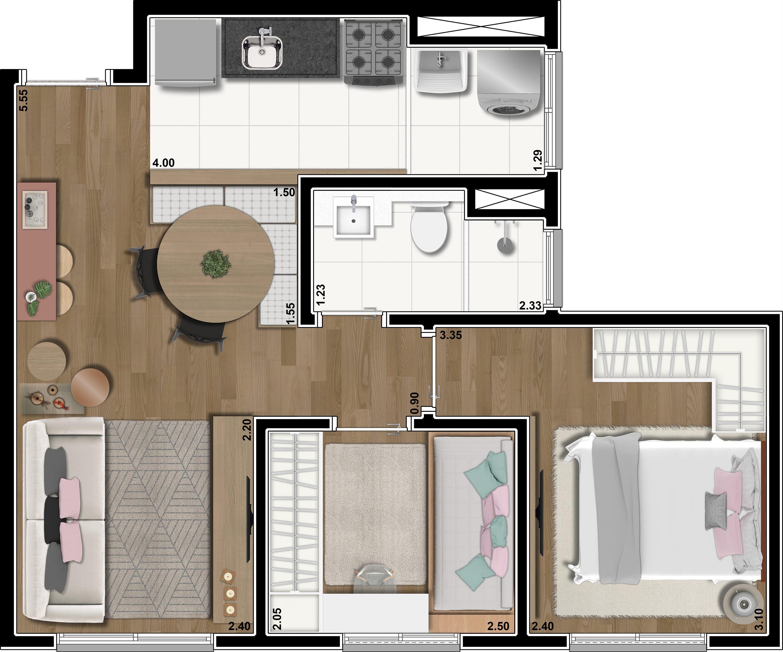 43 m²