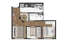 43 m² - Jardim Botânico - Tecnisa