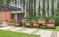 Horta e garagem - Jardim Vista Bella - Tecnisa